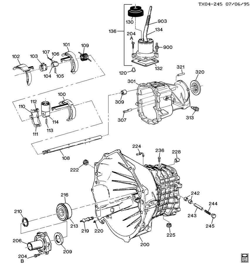Chevy Mg5 Manual Transmission Parts Diagram