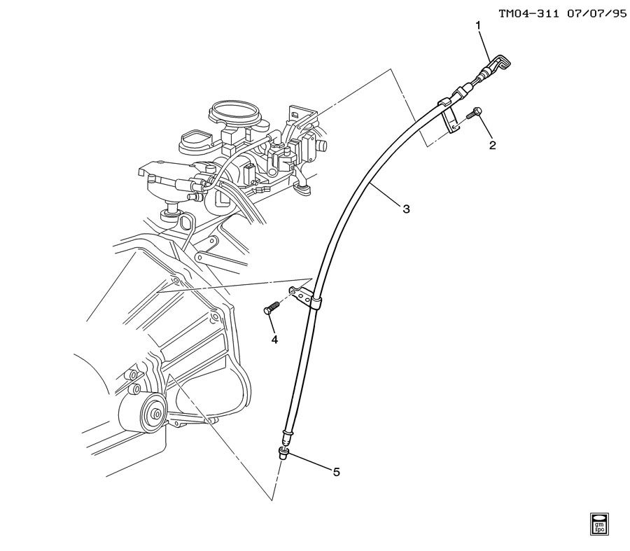 1997 Gmc 3500 Club Coupe Interior: Service Manual [How To Replace Transmission Filler Tube