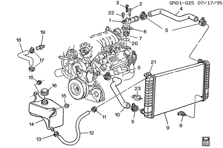 Diagram Of Engine For 2001 Pontiac Bonneville 3 8