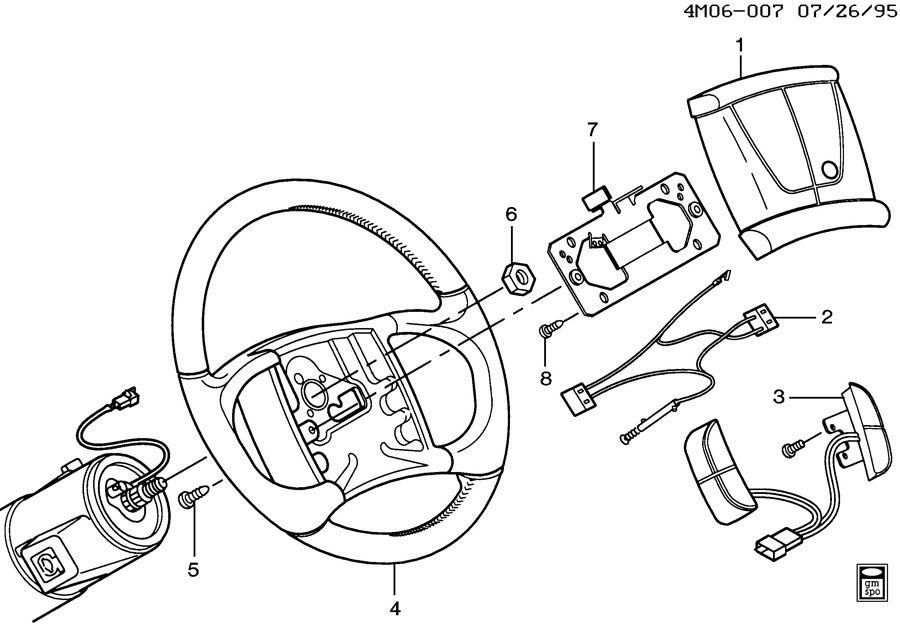 1997 buick lesabre steering wheel  u0026 horn parts