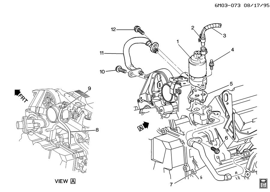 Cadillac Northstar Engine Egr Valve Location
