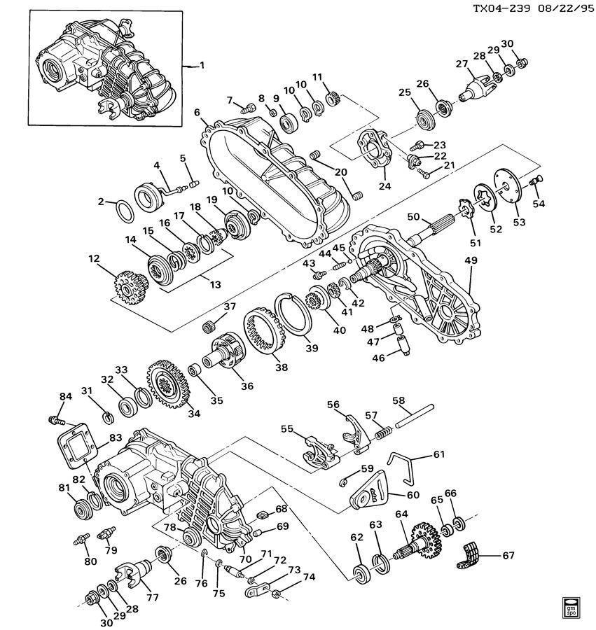 Np246 Transfer Case Parts Diagram