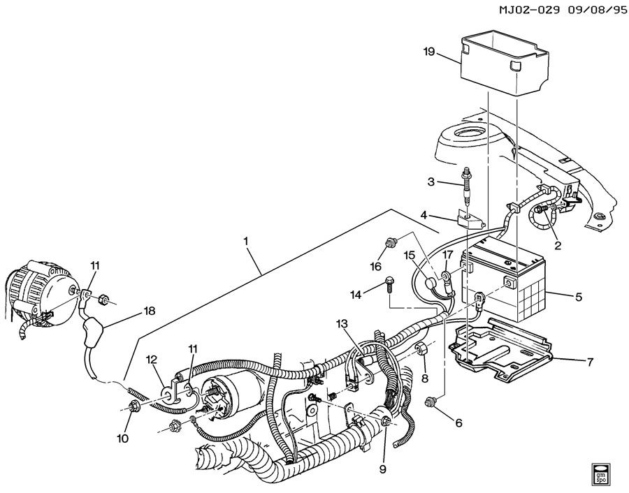 Chevrolet Cavalier Cable  Battery  Battery Ground  Battery