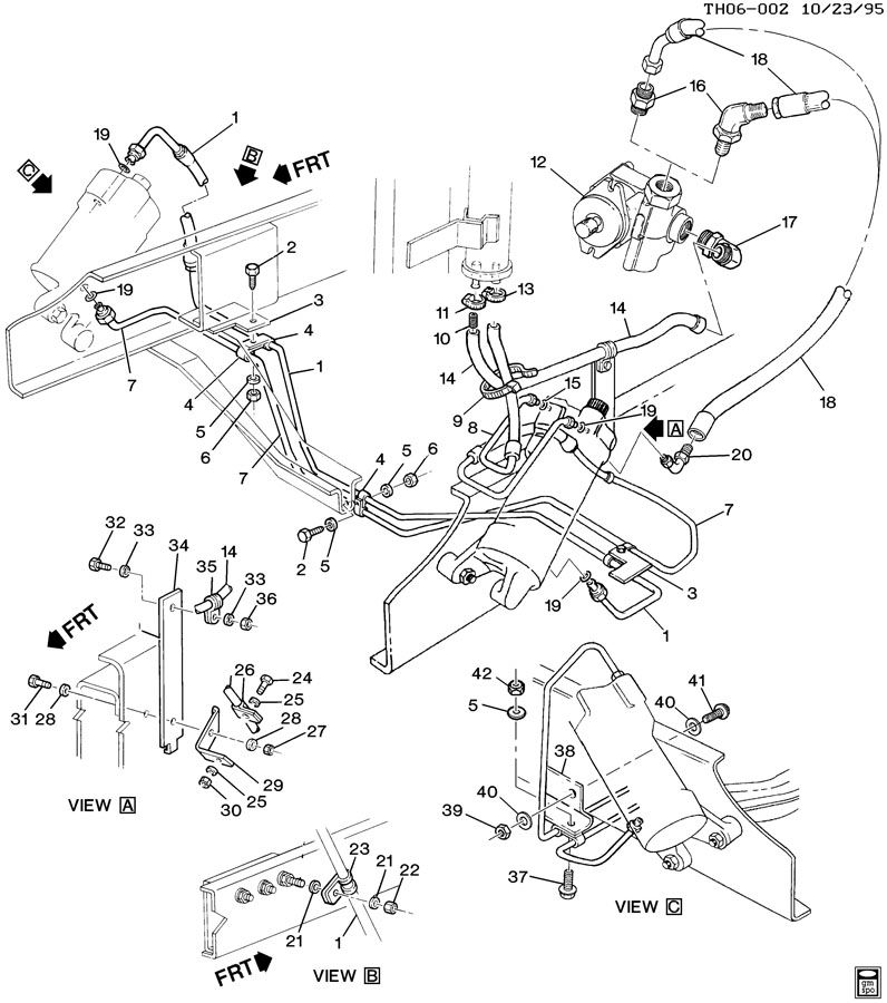 1998 GMC C6500 Pump. Power steering. Bmkuvnonvariable ...