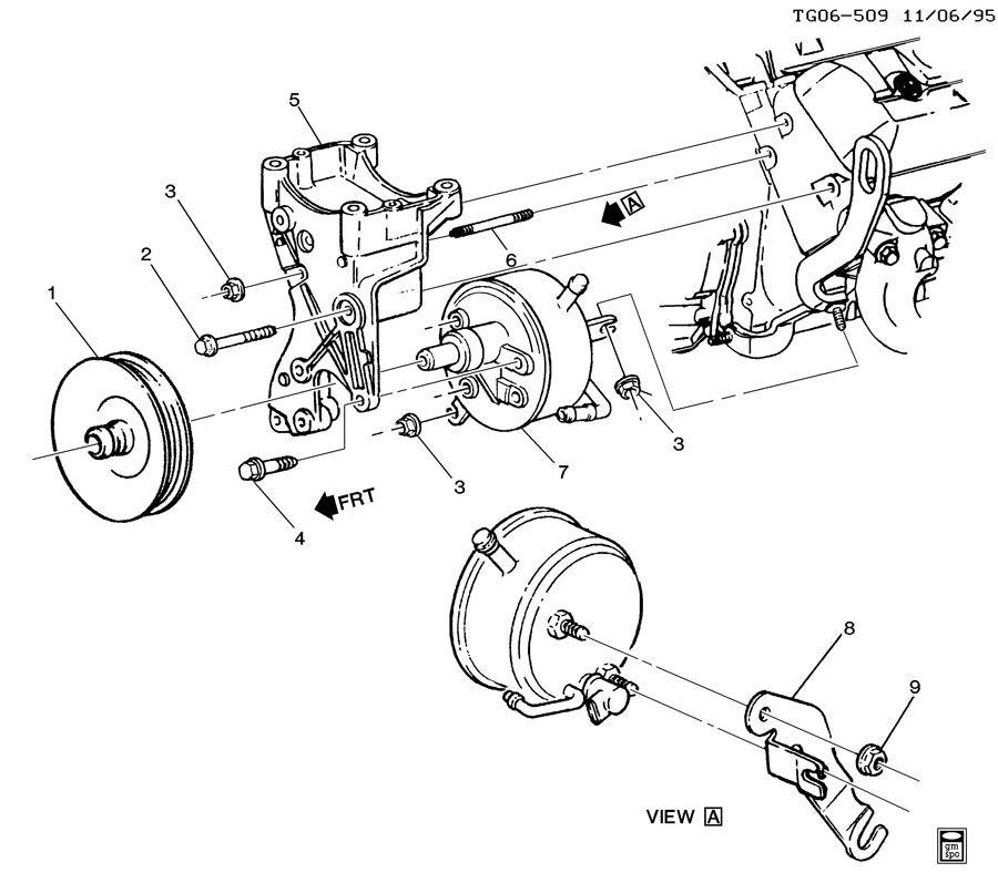 12554522  c  compressor mounting  power brake booster