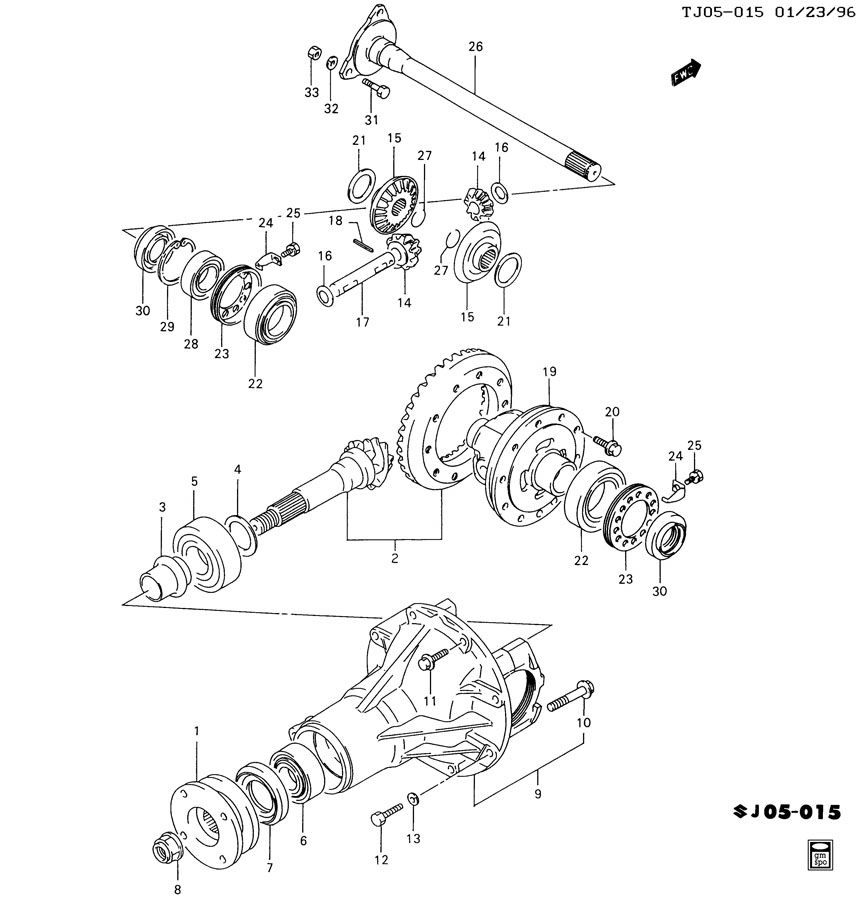 1989 chevy 4wd front axle diagram html
