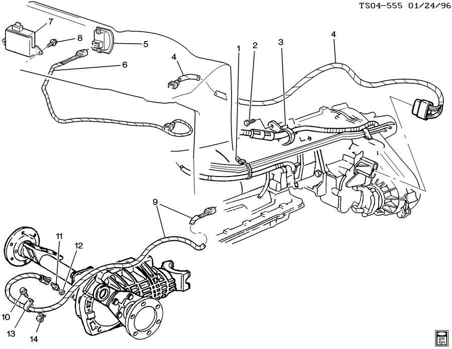 2001 Chevrolet Blazer Switch  Transfer Case Shift Control