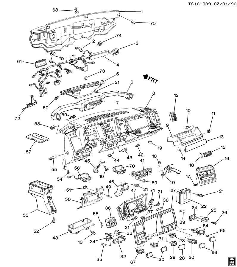 Chevrolet K1500 Instrument Panel  U0026 Related Parts Part 1