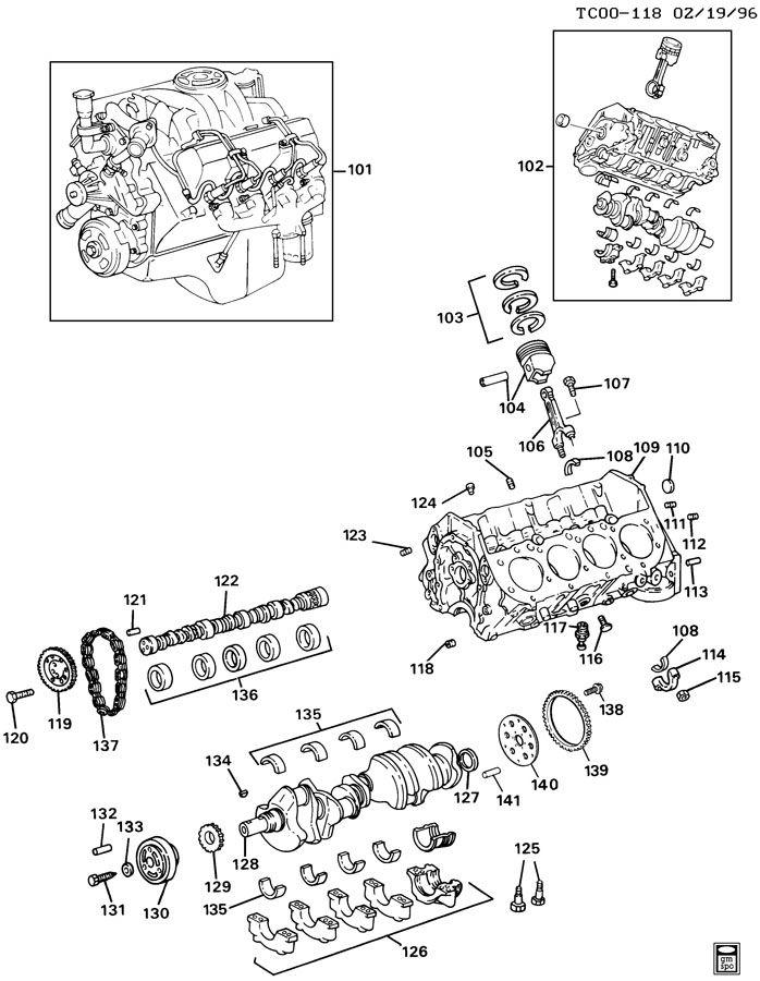 10101164 gm seal engine rear main bearing. Black Bedroom Furniture Sets. Home Design Ideas