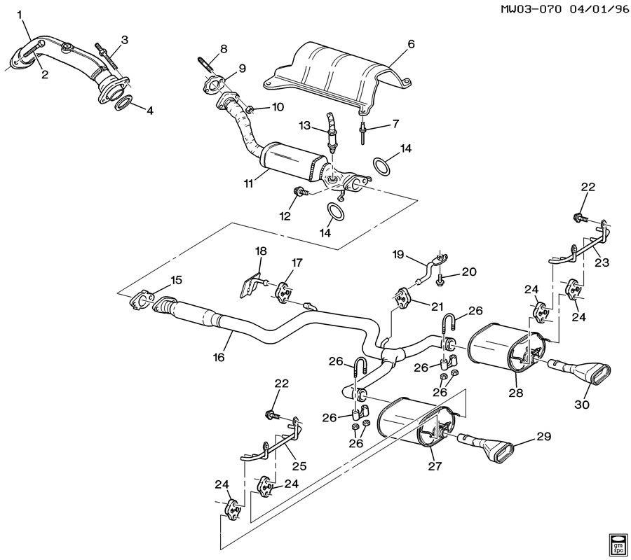 1998 Pontiac Grand Prix Exhaust System