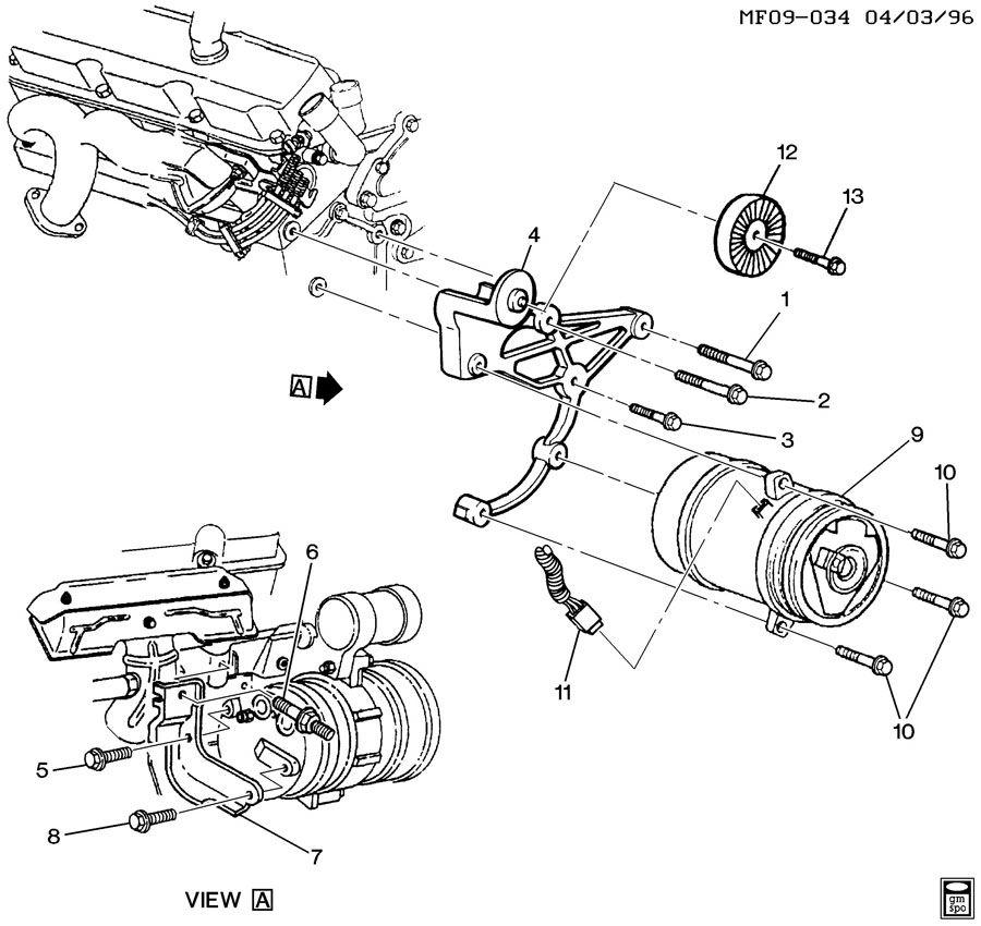 Chevrolet Camaro Bracket  Air Conditioning  A  C  Compressor Mounting  Bracket  A  C Cmpr Frt