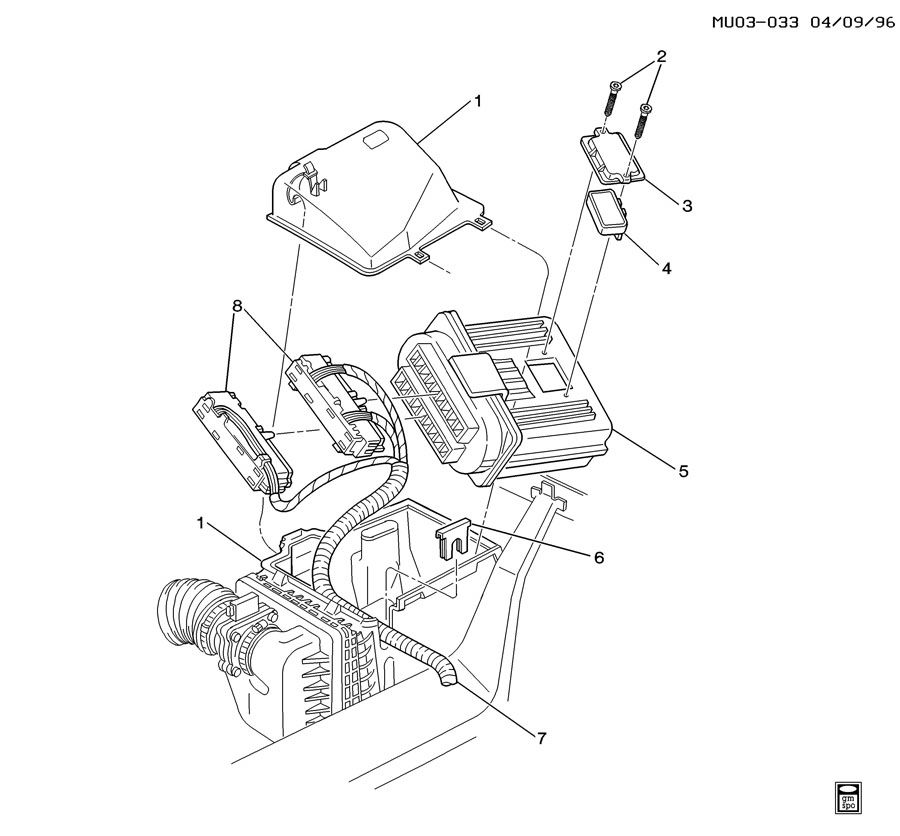 Pontiac Montana P C M  Module  U0026 Wiring Harness