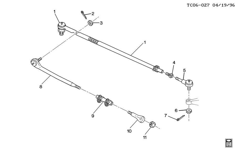 2001 chevrolet c3500 c310 314 steering linkage  steering