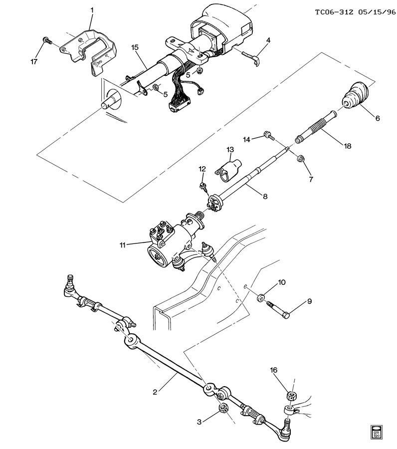 1997 chevrolet k3500 ck310 314 steering system  u0026 related