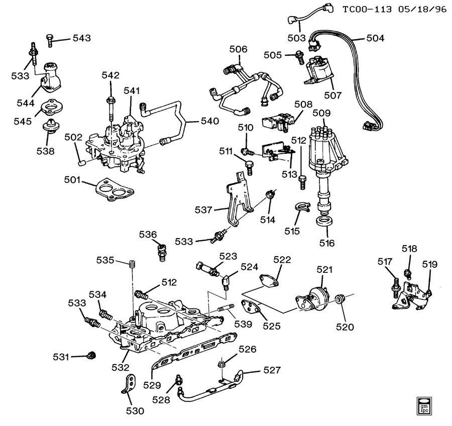 1988 Chevrolet S10 Engine Asm