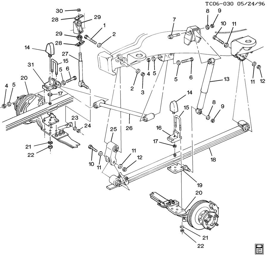 2000 Chevrolet C3500 Absorber  Front And Rear Suspension