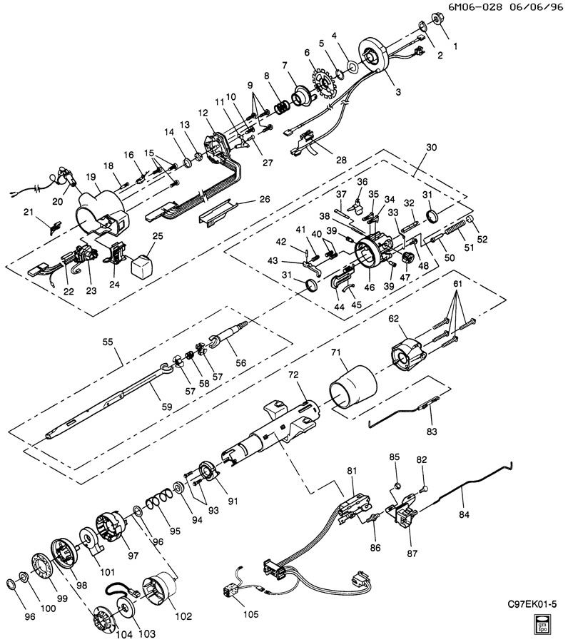Gm Steering Column 23401568 moreover Lock Wire Procedure in addition Steering Rack Replacement Cost besides Ford Ranger Power Steering Pump Diagram Periodic Diagrams Science 3 together with Base. on cadillac dts steering column