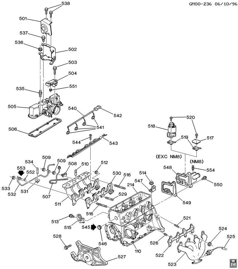 chevrolet cavalier valve  emission control system  valveegrwo  requiredacdelco