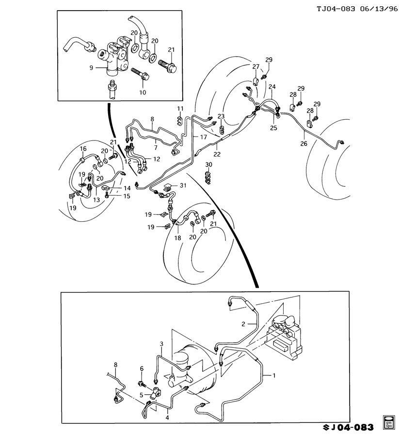 Geo Tracker Pipe  Hydraulic Brake  Pipe  Rr Brk Inter 4