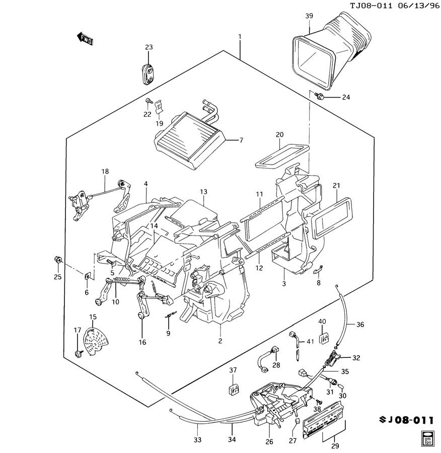 service manual  instruction for a 1997 geo tracker heater