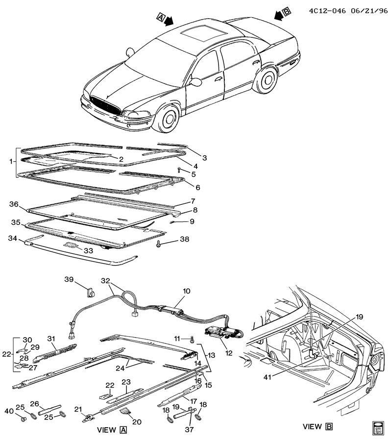 service manual  2003 buick park avenue sunroof repair