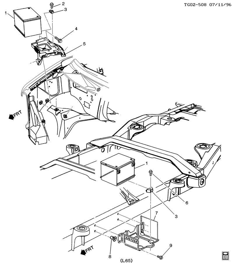 Chevrolet G30 Tray  Battery