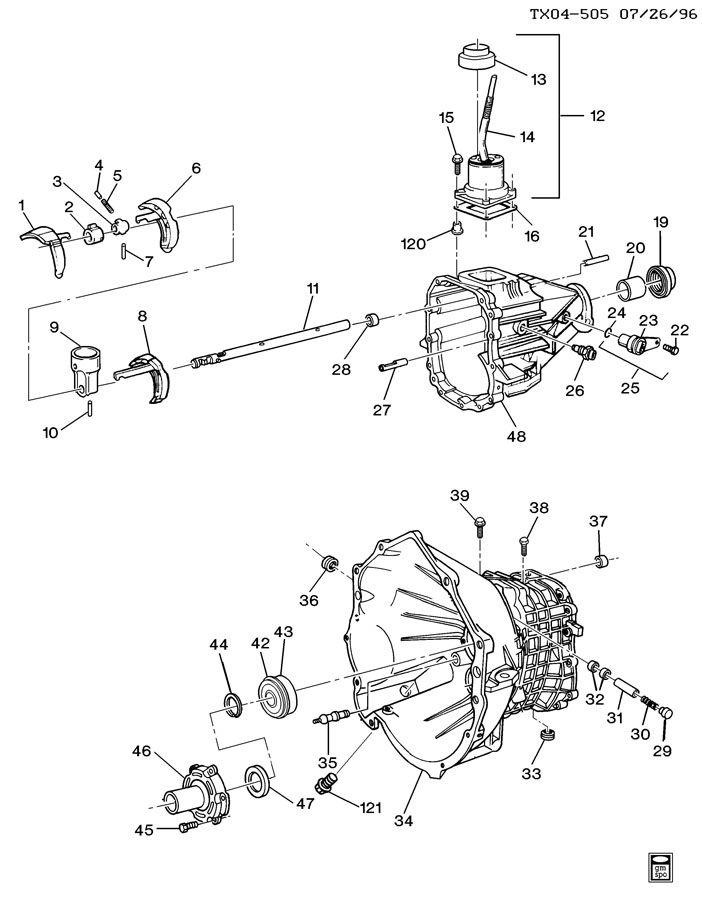 Chevrolet S10 Engine Clutch Release Fork  Pivot  Stud