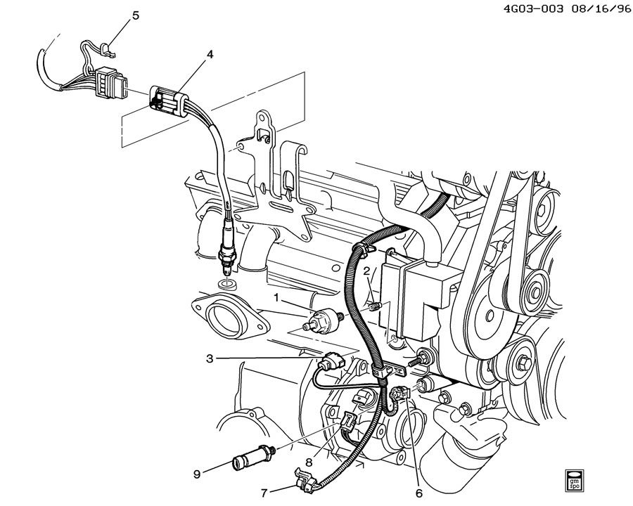 service manual  replace engine coolant temperature sensor