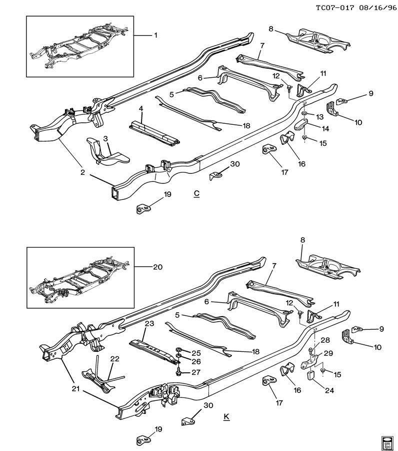 Chevrolet Tahoe Frame