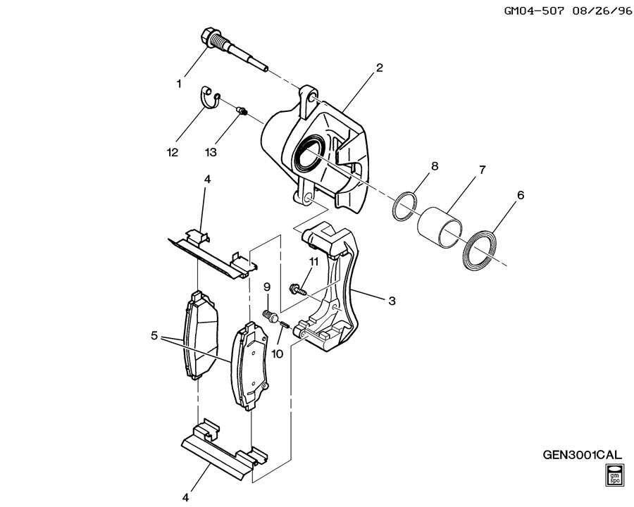 brake caliper seal kit  genuine gm part 18017156