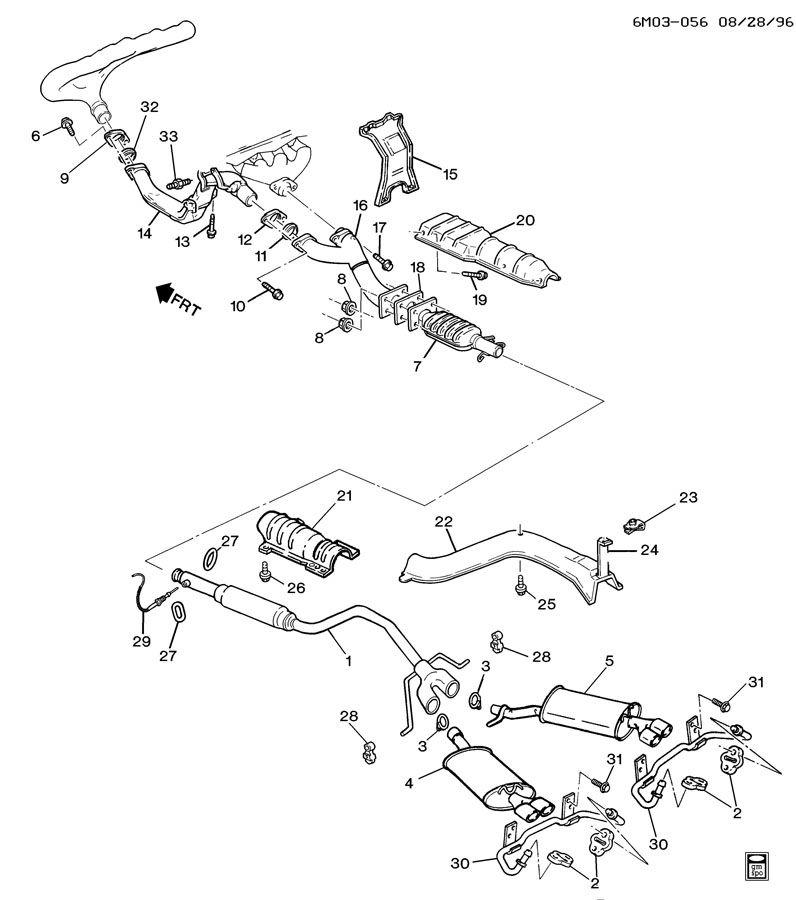 1997 Cadillac Eldorado Exhaust System