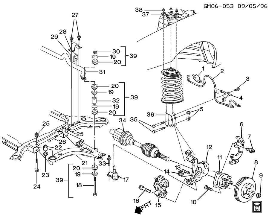2003 buick lesabre air suspension pressor location