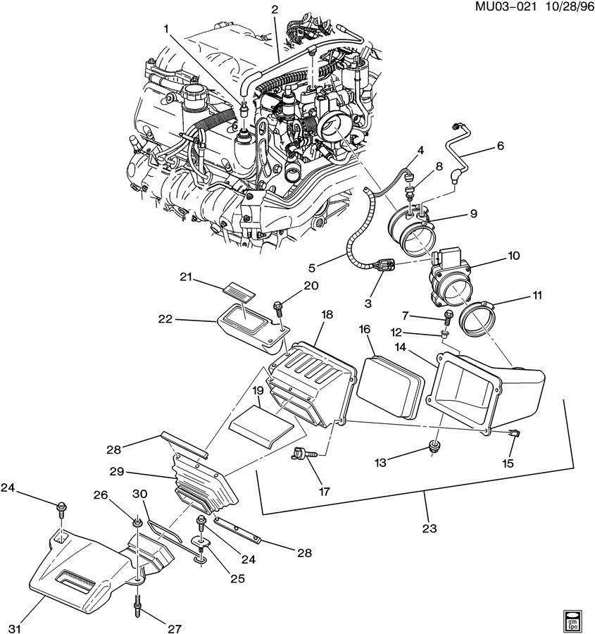 Chevrolet Apv Tube  Engine Crankcase Ventilation