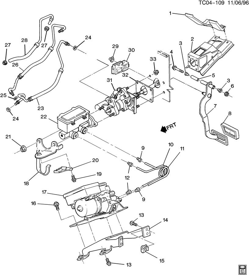 brake pedal  u0026 master cylinder mounting  ck310 314 brake