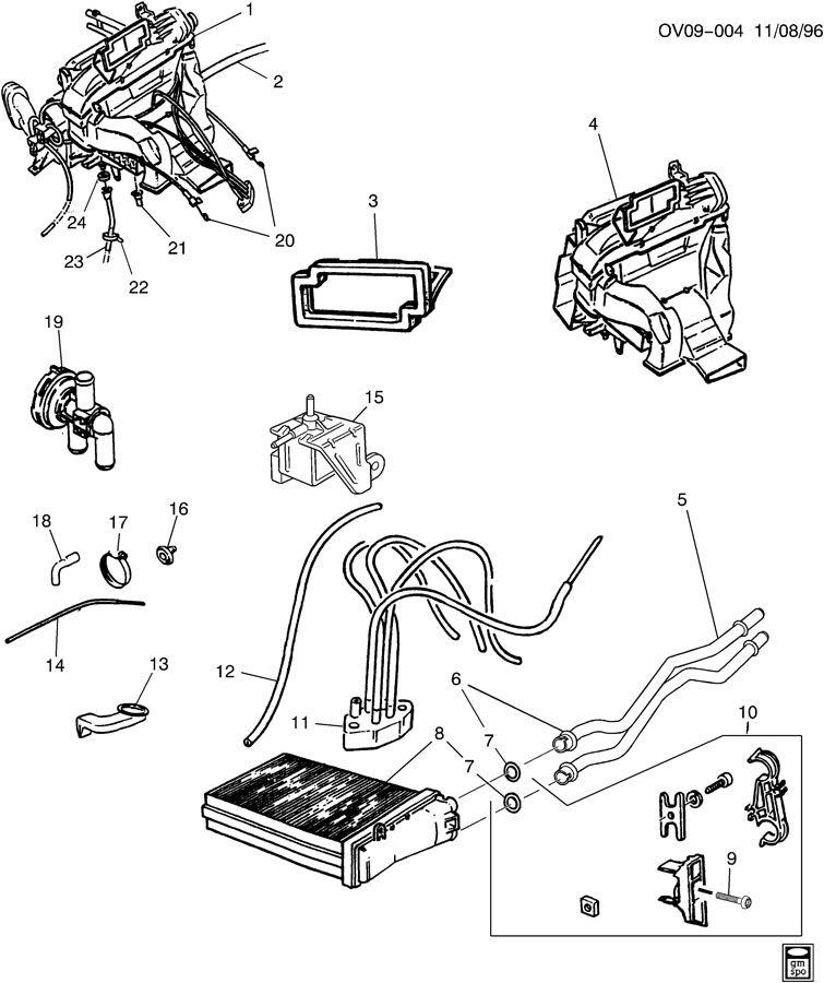 1998 Cadillac Catera Hose  Heater Vacuum Control  Hose