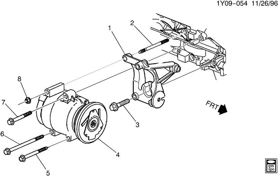 12552922  C  Compressor Mounting  Bolt  A  C Cmpr