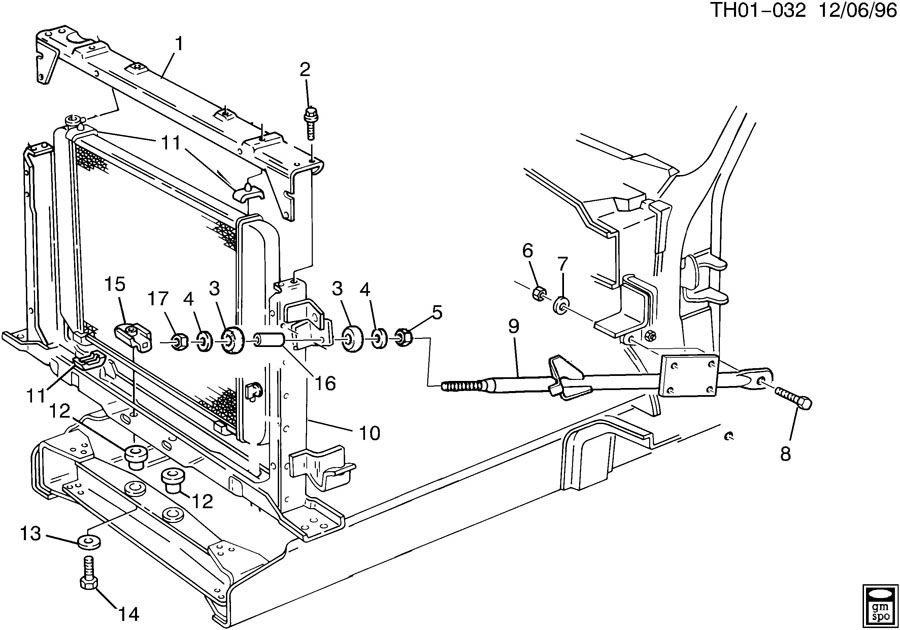 00666191 gmc cushion radiator cushionrad suptcenter. Black Bedroom Furniture Sets. Home Design Ideas