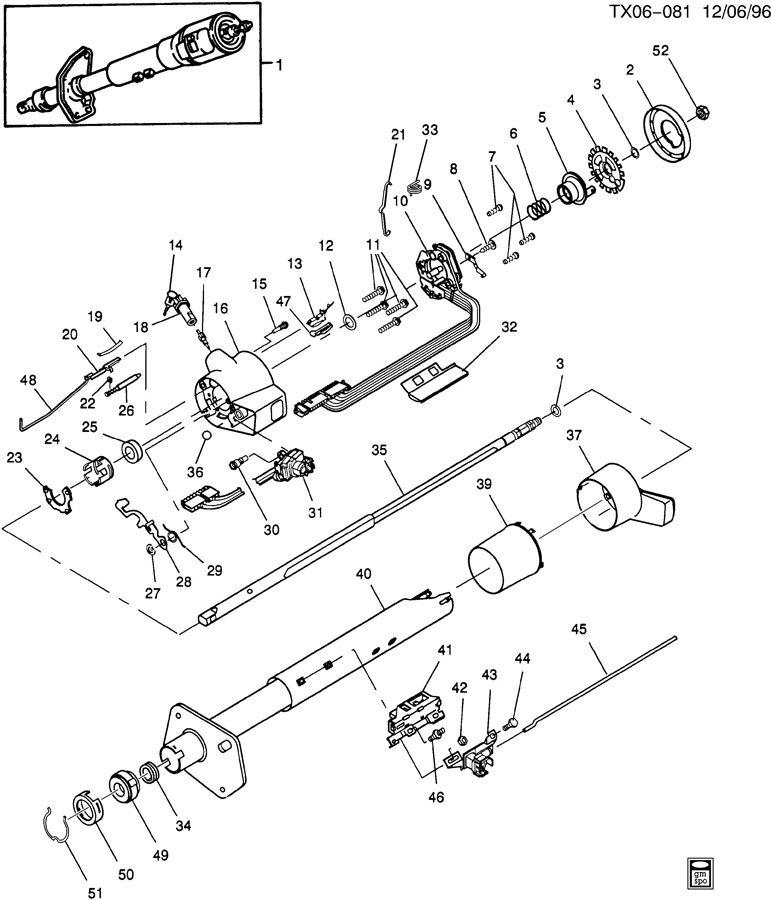 steering column  standard