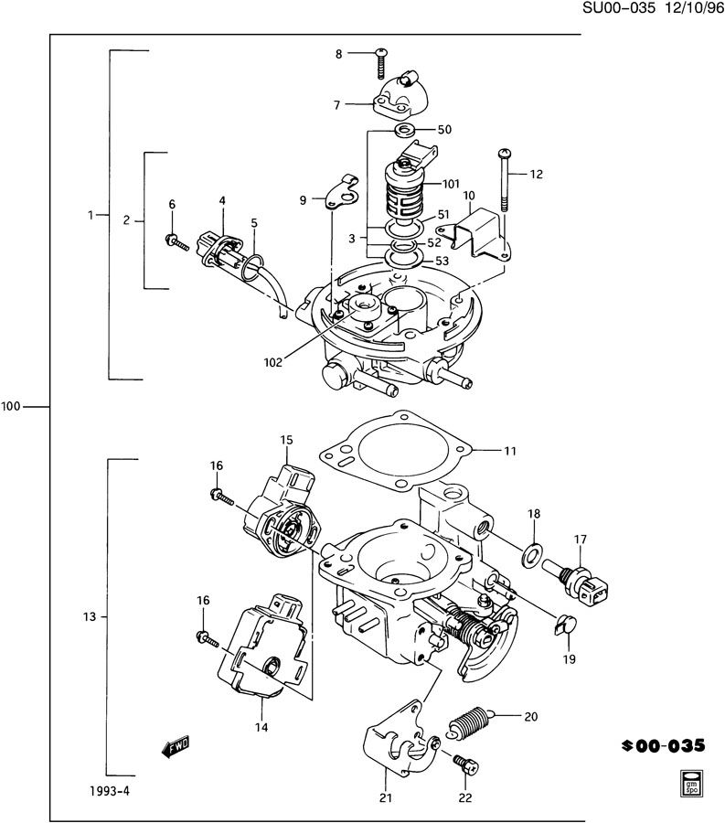 1993 Chevrolet Cavalier Wiring Diagram