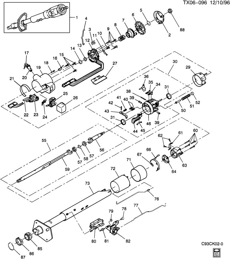 1984 C10 Chevy Truck Heater Core Diagram