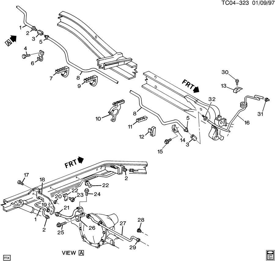 Chevrolet Blazer Hose  Hydraulic Brake  Brkwrecker