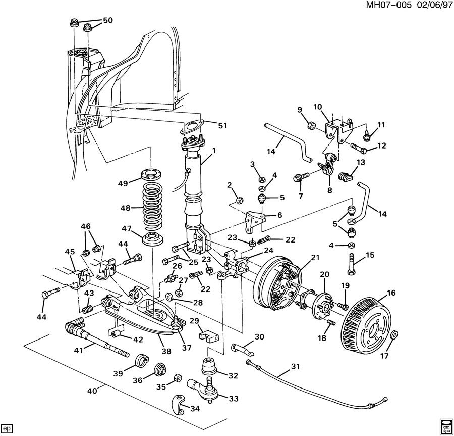 Buick Lesabre Rear Suspension Diagram on 1997 toyota camry vacuum hose diagram