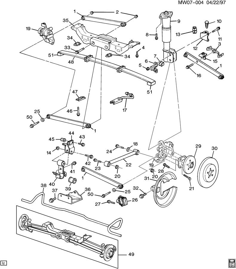 1994 Chevy Front Differential Diagram