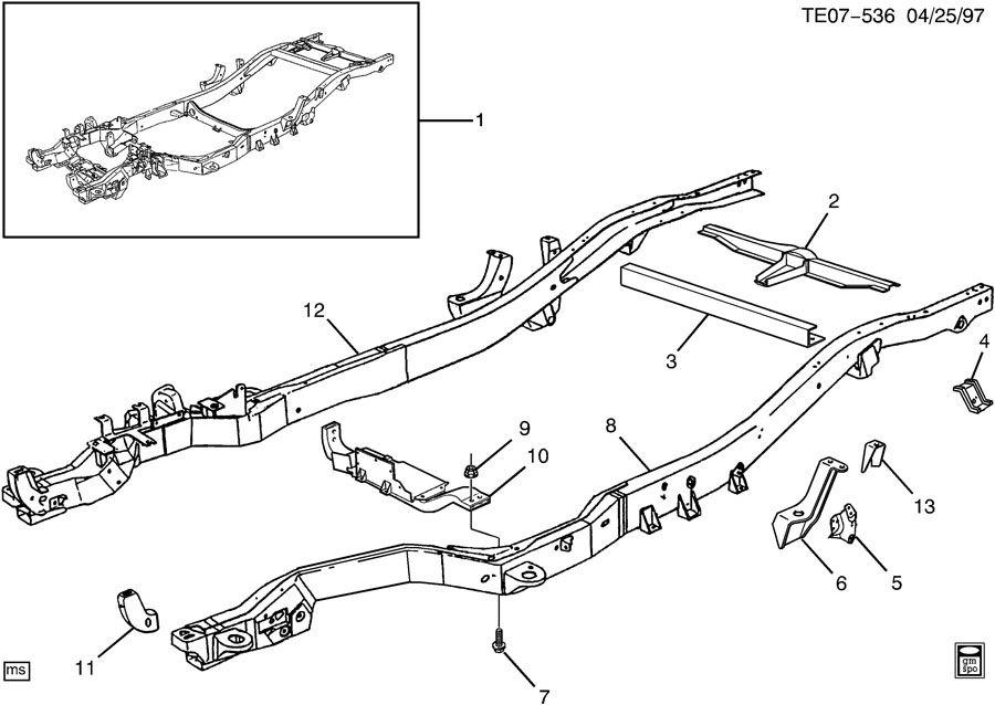 Chevrolet S10 Bracket  Shock Absorber Frame  Bracket  Rr S