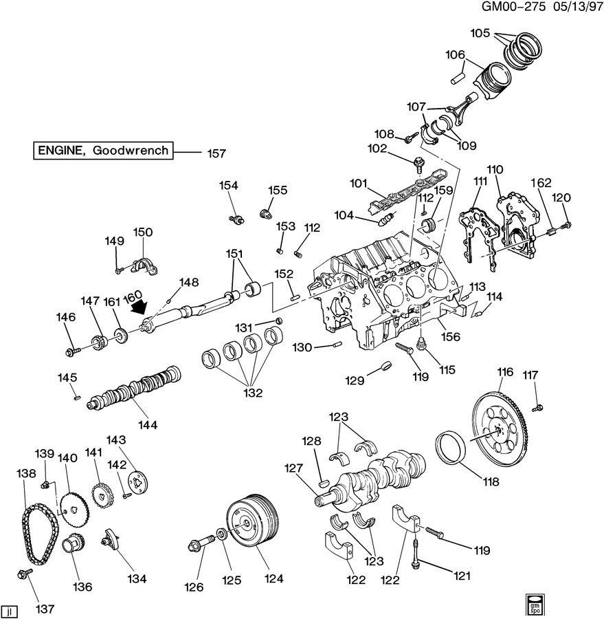 Pontiac Fiero Pin  Engine Clutch Housing Or Transmission