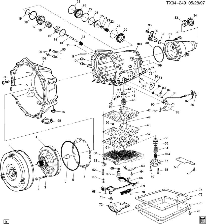 Chevrolet 4l60e Automatic Transmission Diagram