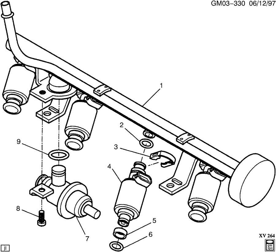 fuel injector rail