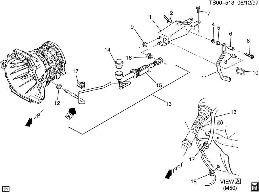 Chevrolet S10 Bushing  Engine Clutch Hydraulic Release