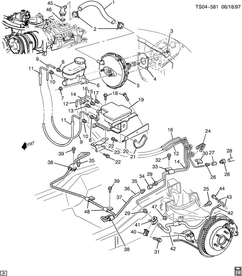 Chevy S10 Brake Lines Diagram