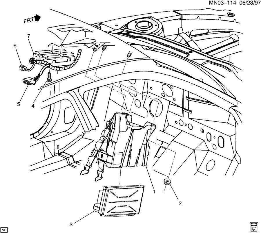 oldsmobile achieva p c m  module  u0026 wiring harness